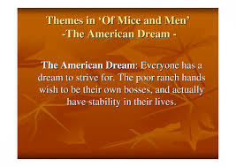 Quotes From Of Mice And Men About The American Dre