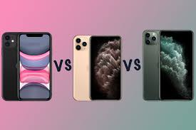 apple iphone 11 vs iphone 11 pro vs