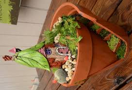 the finished broken pot fairy garden is free no need to apply