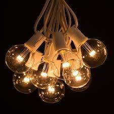 g50 led warm white string light sets white wire