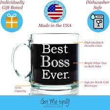 thank you gifts for bosses laveyla com best boss ever glass coffee mug 13 oz work and office gifts for