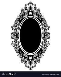Antique mirror frame Circular Vintage Luxury Mirror Frame Baroque Vector Image Ebay Vintage Luxury Mirror Frame Baroque Royalty Free Vector