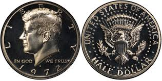 1972 Kennedy Half Dollar Value Chart 1972 S 50c Proof Kennedy Half Dollar Pcgs Coinfacts