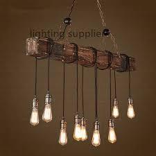 loft style creative wooden droplight edison vintage pendant light old fashioned light fixtures