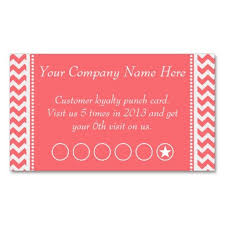 Discount Punch Card Rose Pink Chevron Discount Promotional Punch Card Coupon Card
