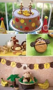 Monkeys. birthday themes for boys 43 Dashing DIY Boy First Birthday Themes