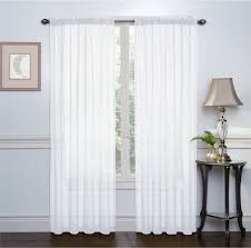 2 pack basic rod pocket sheer voile grommet window curtains white com