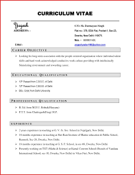 Example Of Good Objective Statement For Resume Exceptional Anple Of Resume Templateples Letter Format For With No 84