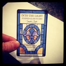 Business Card I Designed For My Moms Stained Glass Company Printed