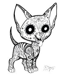 Chihuahua Coloring Page Pencil And In Color Chihuahua Chihuahua