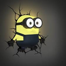 Cool Wall Lights minions 3d decal wall light   cool stuff to buy online from