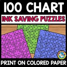 School Grade Chart Back To School Activity First Grade Math 100 Chart Puzzles Ink Saving Center