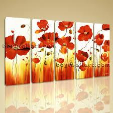 splendid poppy wall art in orange red poppy wall art poppy wall within 2018 red poppy