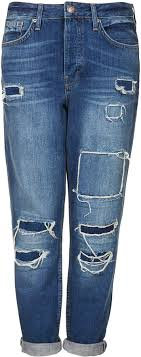 moto ripped jeans. topshop petite moto hayden authentic loose fit boyfriend jeans with rip and repair detail love these ripped