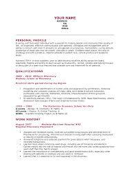 Great Resume For Hospital Pharmacy Internship Contemporary