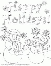 Happy Holidays Coloring Pages The Art Jinni