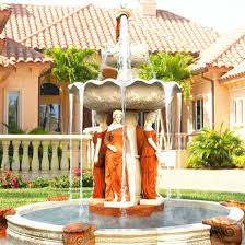 outdoor large garden stone water fountain hot
