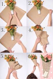 How To Wrap Flower Bouquet In Paper How To Wrap A Flower Bouquet With Craft Paper Gift Bouquet