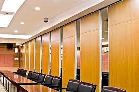 soundproof wall panel sliding operable office partition walls 65mm thickness