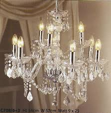 crystal effect chandeliers available from steven amin glaziers stained glass studio