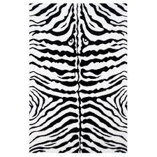 fun rugs fun time zebra skin white 4 ft x 7 ft area rug