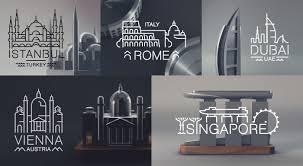 Souvenir Design Ideas A Beautifully Minimalist Souvenir Set Depicting