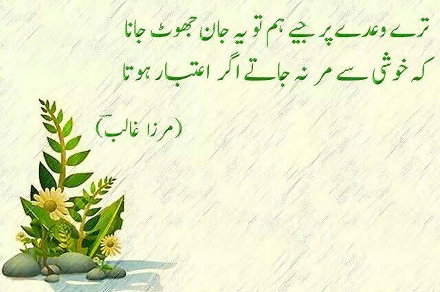 shayari on life by ghalib in urdu