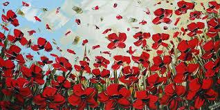 red poppy painting red poppy field by christine krainock