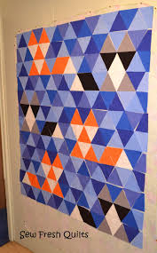 Sew Fresh Quilts: Equilateral Triangle Quilt Tutorial & Equilateral Triangle Quilt Adamdwight.com