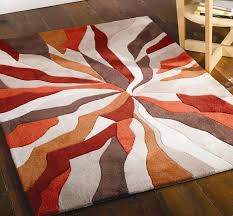 interior brown and white rug red modern blocks gy area rug red orange in red
