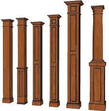 square columns interior wood columns decorative columns home