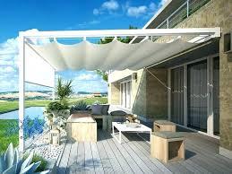 wall mounted canopy gazebo pergola aluminium by and with sliding cover perg