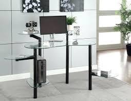 modern glass desk desks for home office intended computer design 17