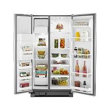 whirlpool gold side by side refrigerator. whirlpool wrs325fdam 24.9 cu. ft. side-by-side refrigerator w/ accu-chill- stainless steel gold side by