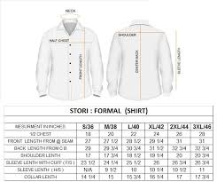 Slim Fit Shirt Size Chart India Fitness And Workout