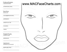 Particular Mac Cosmetics Halloween Face Chart 2010 Blank