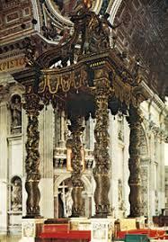 gian lorenzo bernini italian artist com baldachin st peter s vatican city by gian lorenzo bernini 1624