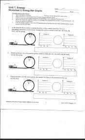 Energy Bar Charts Chemistry Solved Unit 7 Energy Worksheet 3 Energy Bar Graphs Show