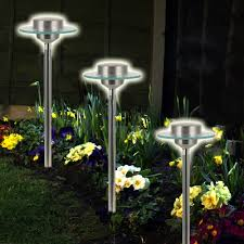 Solar Garden Lights Ebay Details About Solar Powered Garden Led Outdoor Lights 1 2 4 Pc Long Stem Garden Light New
