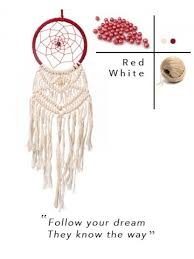 Meaning Behind Dream Catchers Roohworld Rooh Dream Catcher Red And White Woven Online Brand 72