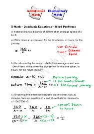 wonderful e math quadratic equations word problems singapore formula worksh quadratic word problems worksheet answers worksheet