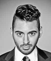 cool male style short wavy hair buzzed sides