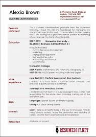 2017 Resume Examples Unique Sample Of 60 Business Administration Resume Examples Increase Your