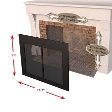 com pleasant hearth at 1001 ascot fireplace glass door black medium home improvement dining