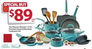 cookware black friday. Unique Cookware Walmart Black Friday The Pioneer Woman 27Pc Porcelain Enamel Nonstick  Cookware Set For And Friday O