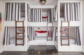 White and Gray Grommet Bunk Bed Curtains