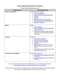 praxis i math review khan academy praxis focus khan alignment page 1
