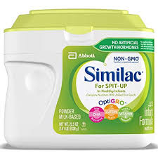Similac Feeding Chart Similac For Spit Up Non Gmo Infant Formula With Iron Powder 1 41 Lb