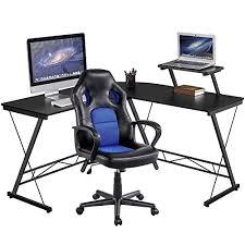 yaheetech corner computer desk and