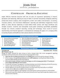 Controller Resume Example Financial Operations Executive